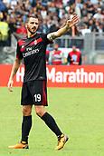 September 10th 2017, Olimpic Stadium, Rome, Italy; Serie A football league, Lazio versus AC Milan;   Leonardo Bonucci gestures