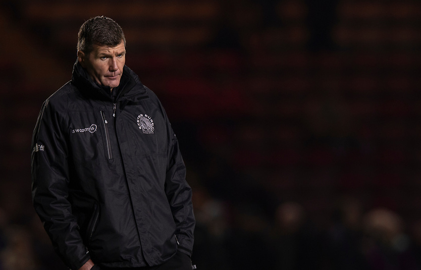 Exeter Chiefs' Head Coach Rob Baxter<br /> <br /> Photographer Bob Bradford/CameraSport<br /> <br /> Gallagher Premiership Round 9 - Harlequins v Exeter Chiefs - Friday 30th November 2018 - Twickenham Stoop - London<br /> <br /> World Copyright © 2018 CameraSport. All rights reserved. 43 Linden Ave. Countesthorpe. Leicester. England. LE8 5PG - Tel: +44 (0) 116 277 4147 - admin@camerasport.com - www.camerasport.com