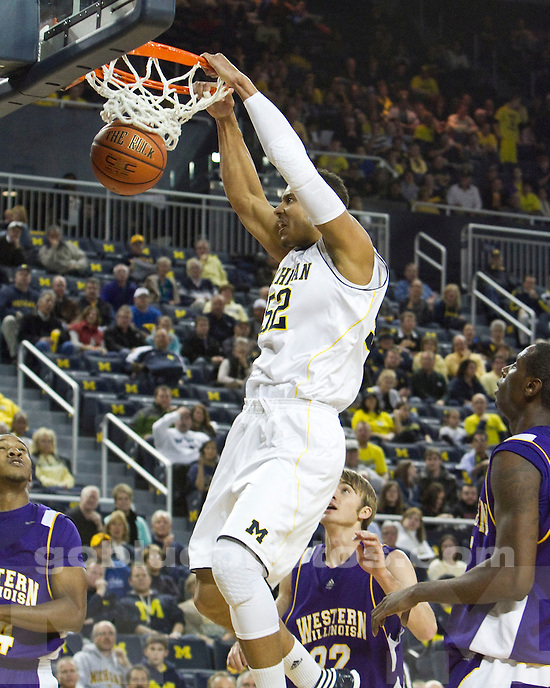 The University of Michigan men's basketball team beat  Western Illinois, 59-55, at Crisler Arena in Ann Arbor, Mich., on November, 17 2011.