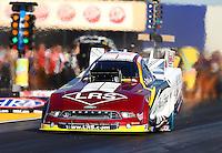 Jul. 26, 2013; Sonoma, CA, USA: NHRA funny car driver Tim Wilkerson during qualifying for the Sonoma Nationals at Sonoma Raceway. Mandatory Credit: Mark J. Rebilas-