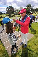 Annika Sorenstam signs a fan's cap. 2018 Annika Australiasia Invitational Junior-Am at Royal Wellington Golf Club in Upper Hutt, Wellington, New Zealand on Saturday, 15 December 2018. Photo: Dave Lintott / lintottphoto.co.nz