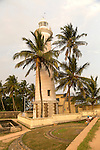 Lighthouse building in the historic town of Galle, Sri Lanka, Asia