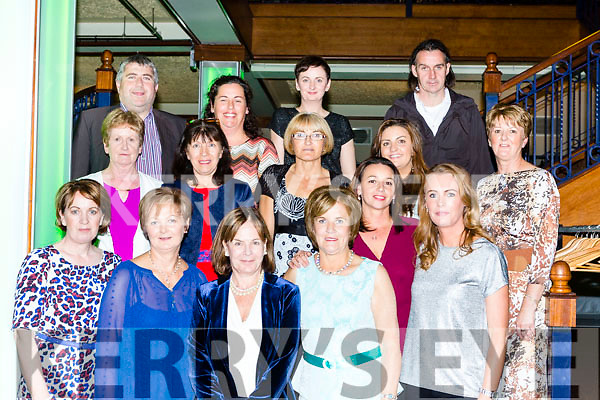 Ard Mhuire, Listowel at the Ring of Kerry cheque presentation in the INEC on Friday night front row: Margaret Quille, Margaret Buckley, Liz McElligott, Joan Buckley, Tina Breen. Middle  Bridie McCarthy, Kitty Madden, Diane McDonnell, Kay Bryant, kelly enright and Liz Galway. Back row: Christy Walsh, Andrianna Brent, Catherina Walsh and PJ Kelliher