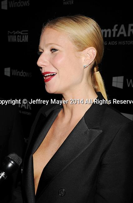 HOLLYWOOD, CA- OCTOBER 29: Actress Gwyneth Paltrow attends amfAR LA Inspiration Gala honoring Tom Ford at Milk Studios on October 29, 2014 in Hollywood, California.