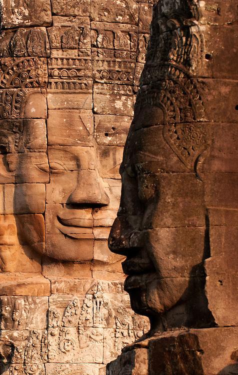 Bayon Faces 02 - Face towers of the Bayon temple, Angkor Thom, Cambodia