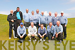 The Castlegregory team at the Jimmy Bruen Cup in Ceann Sibéal Golf Course, Baile an Fheirtéaraigh, on Saturday afternoon. Front from left: Colm O'Sullivan, Con O'Connor, Pat Dooley, Michael Burrows, Brian Neenan (captain). Back from left: Brian Tess, Colm Sheehy, Brian Tess Junior, Rob Sheehy, John Rowan, Tom Moriarty, Joe Mulchahy, Michael Tagney, Eddie Hanafin.
