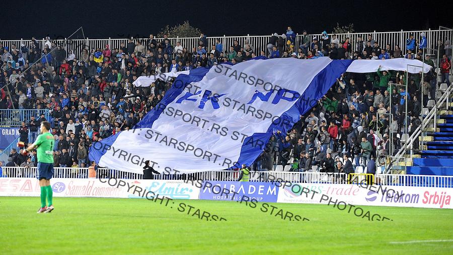 Fudbal Super liga season 2014-2015<br /> Novi Pazar v Spartak<br /> Koreografija na istocnoj tribini<br /> Novi Pazar, 18. 10. 2014<br /> foto: Emir Sadovic/Starsportphoto &copy;