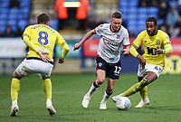 Bolton Wanderers' Craig Noone competing with Blackburn Rovers' Joe Rothwell and Kasey Palmer<br /> <br /> Photographer Andrew Kearns/CameraSport<br /> <br /> The EFL Sky Bet Championship - Bolton Wanderers v Blackburn Rovers - Saturday 6th October 2018 - University of Bolton Stadium - Bolton<br /> <br /> World Copyright © 2018 CameraSport. All rights reserved. 43 Linden Ave. Countesthorpe. Leicester. England. LE8 5PG - Tel: +44 (0) 116 277 4147 - admin@camerasport.com - www.camerasport.com