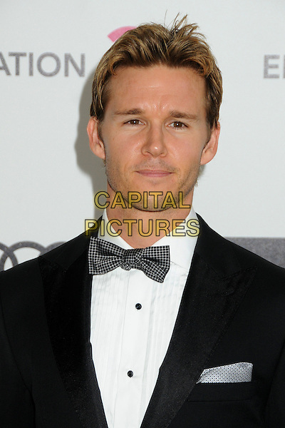 Ryan Kwanten.20th Annual Elton John Academy Awards Viewing Party held at West Hollywood Park, West Hollywood, California, USA..February 26th, 2012.headshot portrait black white bow tie stubble facial hair .CAP/ADM/BP.©Byron Purvis/AdMedia/Capital Pictures.