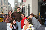 Adam Mayfield and fans - Bus Trip Around Manhattan held on September 12, 2009 from the upper east side to Battery Park, Ground Zero and all around Manhattan. (Photo by Sue Coflin/Max Photos)