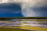 Storm dumping rain, Altai Mountains, Mongolia