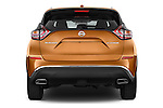 Straight rear view of a 2015 Nissan Murano Platinum 5 Door SUV Rear View  stock images