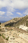Israel, Mount Carmel, ruins of the Carmelite Monastery in Wadi Siach
