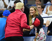 FLUSHING NY- SEPTEMBER 06: Boris Becker Jelena Djokovic seen watching Novak Djokovic Vs Jo Wilfred Tsonga on Arthur Ashe Stadium at the USTA Billie Jean King National Tennis Center on September 6, 2016 in Flushing Queens. Credit: mpi04/MediaPunch