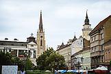 SERBIA, Novi Sad, Novi Sad Cathedral and skyline, Eastern Europe