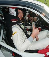 Daniel Vanbuyten ( ex-Diable Rouge ) au départ de la Spéciale du Rallye du Condroz - Belgique