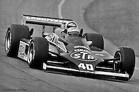 PHOENIX, AZ - MARCH 28: Mario Andretti drives his Wildcat VIIIB/Cosworth during the Kraco Car Stereo 150 on March 28, 1982, at the Phoenix International Raceway near Phoenix, Arizona.