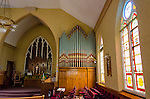 organ pipes, interior of Zion Lutheran Church, Valley City,, Ohio, USA