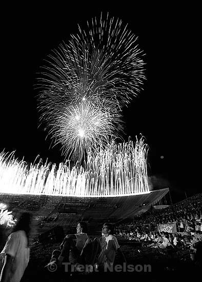 Stadium of Fire fireworks.<br />