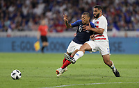 Lyon, France - Saturday June 09, 2018: Kylian Mbappé, Cameron Carter-Vickers during an international friendly match between the men's national teams of the United States (USA) and France (FRA) at Groupama Stadium.