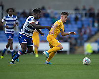 Preston North End's Josh Harrop (right) under pressure from Reading's Pele (left) <br /> <br /> Photographer David Horton/CameraSport<br /> <br /> The EFL Sky Bet Championship - Reading v Preston North End - Saturday 19th October 2019 - Madejski Stadium - Reading<br /> <br /> World Copyright © 2019 CameraSport. All rights reserved. 43 Linden Ave. Countesthorpe. Leicester. England. LE8 5PG - Tel: +44 (0) 116 277 4147 - admin@camerasport.com - www.camerasport.com
