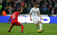 Sunday, 25 November 2012<br /> Pictured: Raheem Sterling (L) and Ben Davies (R).<br /> Re: Barclays Premier League, Swansea City FC v Liverpool at the Liberty Stadium, south Wales.