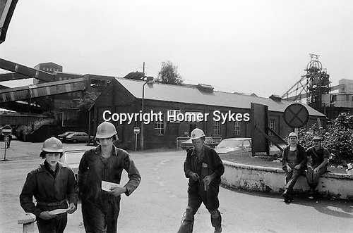 South Kirkby Colliery Yorkshire England. 1979.<br /> <br /> Apprentice Fitter Gary Jones (left of image)who went on to work at the Colliery until its closure in 1988.