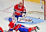 18 December 2008: Montreal Canadiens' goaltender Jaroslav Halak from the Slovak Republic watches a shot go inches wide during the third period against the Philadelphia Flyers at the Bell Centre in Montreal, Quebec, Canada. The Canadiens, trying to avoid a four-game slide, defeated the Flyers 5-2, thus ending Philadelphia's 5-game winning streak. ***** Editorial Sales Only ***** Mandatory Photo Credit: Ed Wolfstein Photo