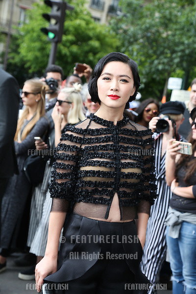 PARIS, FRANCE - JULY 05: Actress Zilin Zhang arrives at the Giorgio Armani Prive Haute Couture Fall/Winter 2016-2017  <br /> July 5, 2016  Paris, France<br /> Picture: Kristina Afanasyeva / Featureflash