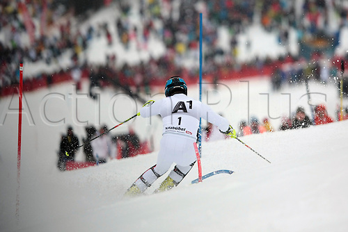 22.01.2012. Kitzbuehel, Austria. Cristian DEVILLE (ITA) competing during the first run of the Alpine Ski World Cup Hahnenkamm Slalom