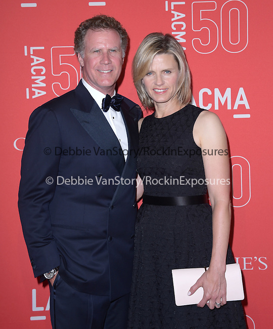 Will Ferrell, Viveca Paulin attends LACMA's 50th Anniversary Gala held at LACMA in Los Angeles, California on April 18,2015                                                                               © 2015 Hollywood Press Agency