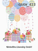 Kate, CHILDREN BOOKS, BIRTHDAY, GEBURTSTAG, CUMPLEAÑOS, paintings+++++Presents and balloons 2.,GBKM615,#bi#, EVERYDAY