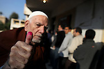 An elderly Egyptian man casts his vote at a polling station in the Manial neighbourhood of Cairo on November 28, 2011. Egyptians began voting in the first elections since the fall of autocrat Hosni Mubarak who was ousted in February in one of the most important moments of the Arab Spring. Photo by Wissam Nassar