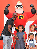 Sir Mohamed &quot;Mo&quot; Farah and his children at the &quot;Incredibles 2&quot; UK film premiere, BFI Southbank, Belvedere Road, London, England, UK, on Sunday 08 July 2018.<br /> CAP/CAN<br /> &copy;CAN/Capital Pictures