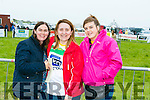 Enjoying the Dingle Races at Ballintaggart Racecourse on Saturday were l-r  Clare Durning, Michelle Ingram and Shelly McFadden