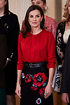 Queen Letizia of Spain attends Palace Audiences at Zarzuela Palace in Madrid, Spain. January 14, 2020. (ALTERPHOTOS/A. Perez Meca)