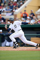 Detroit Tigers infielder Francisco Martinez (55) during a spring training game against the Atlanta Braves on February 27, 2014 at Joker Marchant Stadium in Lakeland, Florida.  Detroit defeated Atlanta 5-2.  (Mike Janes/Four Seam Images)
