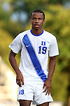 09 September 2014: Duke's Jeremy Ebobisse. The Duke University Blue Devils hosted the Temple University Owls at Koskinen Stadium in Durham, North Carolina in a 2014 NCAA Division I Men's Soccer match. Duke won the game 3-1.