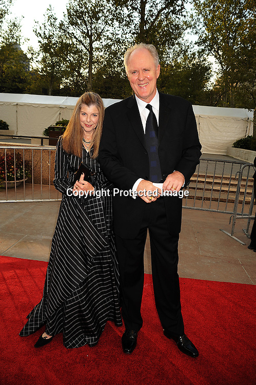Mary Corey and John Lithgow.arriving at The opening night of the Metropolitan Opera  on September 22, 2008 at The Metropolitan Opera House in New York City. ..Robin Platzer, Twin Images