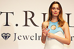 """Leighton Meester, September 25 2014, Tokyo, Japan : American singer, model and actress Leighton Meester shows to the cameras the new fragrance """"ST. Rillian"""" by Stone Market during the press conference and VIP party on September 25 in Tokyo, Japan. The name of the fragrance comes from Stone/ST and Trillion, and the product will be released on Friday September 26. The perfume contains power stones and cubic zirconia inside the bottle and has variation of fragrance.  (Photo by Rodrigo Reyes Marin/AFLO)"""