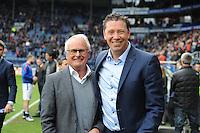 VOETBAL: HEERENVEEN: 10-04-16, Abe Lenstra Stadion, SC Heerenveen - AZ, uitslag 4-2, Foppe de Haan en Leroy Echteld (AZ), ©foto Martin de Jong