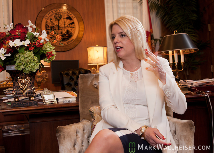 Florida Attorney General Pamela Jo Bondi in her office in the Florida Capitol in Tallahassee, Florida February 21, 2012. Pam Bondi was elected Florida's 37th Attorney General November 2, 2010.