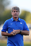 BROWNS SUMMIT, NC - SEPTEMBER 16: Duke head coach John Kerr. The University of North Carolina Tar Heels hosted the Duke University Blue Devils on September 16, 2017 at Macpherson Stadium in Browns Summit, NC in a Division I college soccer game. UNC won the game 2-1.