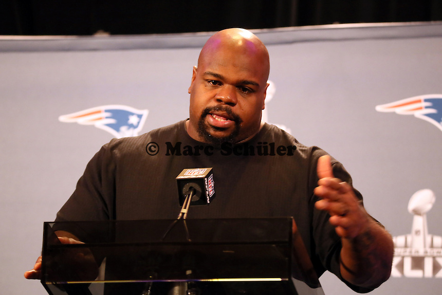 DT Vince Wilfork (Patriots) - Super Bowl XLIX New England Patriots Team-PK, Sheraton Arizona Grand Hotel