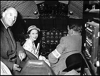 BNPS.co.uk (01202 558833)<br /> Pic: QueensFlightArchive<br /> <br /> A young Princess Margaret in the cockpit of the new DH Comet in 1951.<br /> <br /> A new book gives an intimate look behind the scenes of the Royal Flight and also the flying Royals.<br /> <br /> Starting in 1917 the book charts in pictures the 100 year evolution of first the King's Flight and then later the Queen's Flight as well as the Royal families passion for aviation.<br /> <br /> Author Keith Wilson has had unprecedented access to the Queen's Flight Archives to provide a fascinating insight into both Royal and aeronautical history.