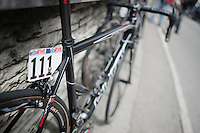 race number 111 for Maxime Monfort (BEL/Lotto-Belisol)<br /> <br /> 2014 Giro d'Italia<br /> stage 18: Belluno - Rifugio Panarotta (Valsugana), 171km