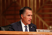 United States Senator Mitt Romney (Republican of Utah) questions witnesses during the US Senate Committee on Homeland Security and Government Affairs hearing on April 9, 2019.<br /> Credit: Stefani Reynolds / CNP