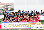 INAC Kobe Leonessa team group,<br /> DECEMBER 8, 2013 - Football / Soccer :<br /> INAC Kobe Leonessa players pose with the trophy after winning the mobcast cup International Women's Club Championship 2013 Final match between INAC Kobe Leonessa 4-2 Chelsea Ladies FC at Ajinomoto Field Nishigaoka in Tokyo, Japan. (Photo by Hitoshi Mochizuki/AFLO)