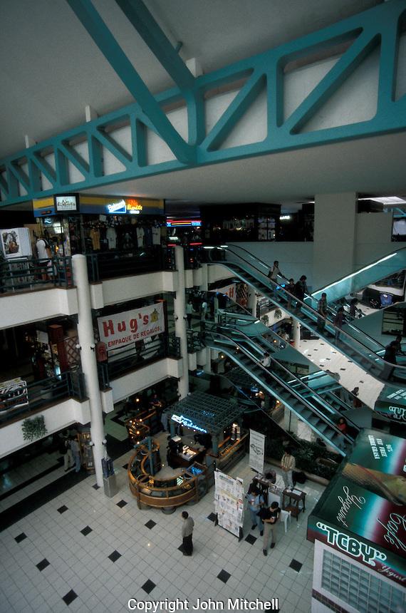 Interior of the Planet Mall, a shopping centre in San Jose, Costa Rica