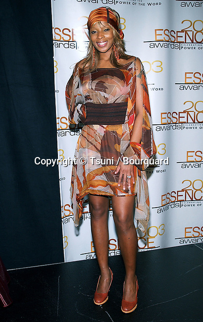 Mary J. Blige at the Essence Awards at the Kodak Theatre in Los Angeles. June 7, 2003.